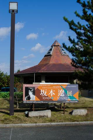 草野心平記念文学館の特別展坂本遼展の看板
